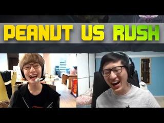 ROX PEANUT VERSUS RUSH 1V1 LEE SIN & MUNDO (+ Twitch Chat and Peanut Cam)