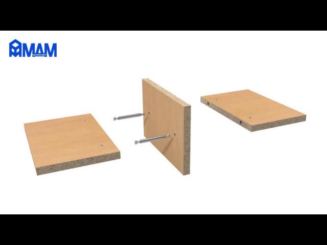 Стяжка коническая D5 для плит толщиной от 10 мм