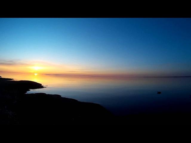 Закат в дельте Северной Двины