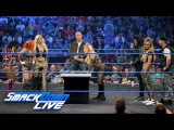 WWE Backlash Six-Woman Tag Team Match Contract Signing SmackDown LIVE, May 16, 2017