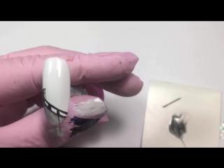 Пошаговый видеоурок по дизайну ногтей. Френч кинолента