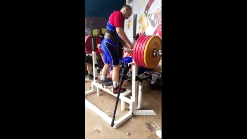 Вадим Кулманаков жим лежа 255 кг 150
