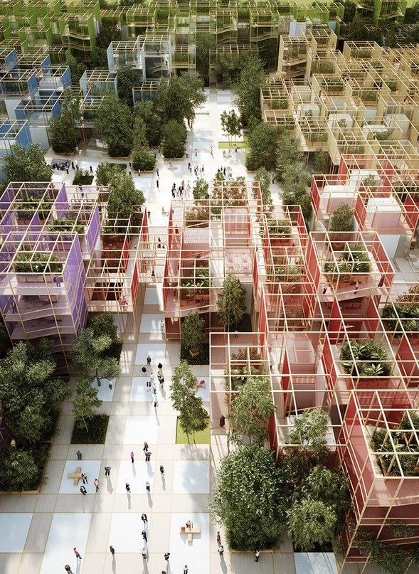 penda's modular thousand yards pavilion to headline