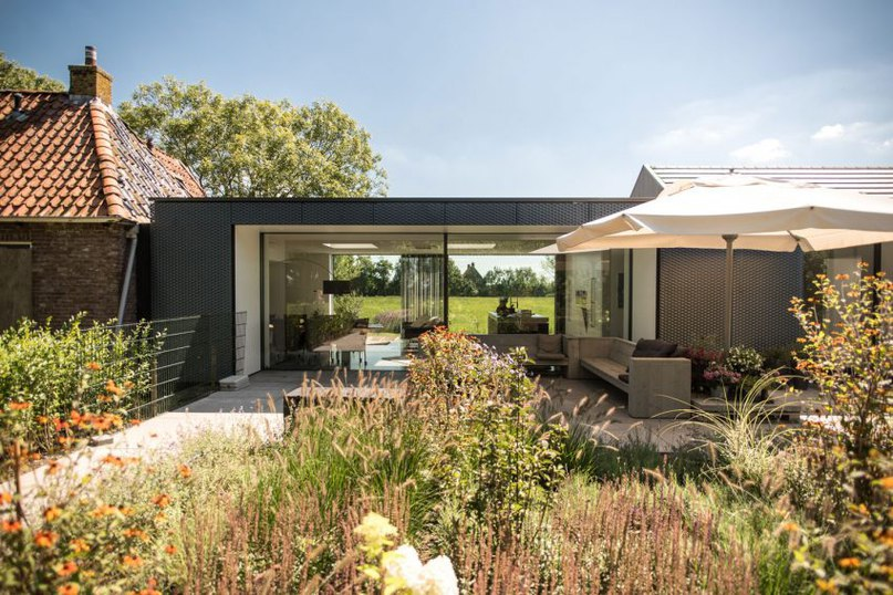 Частный дом в Нидерландах #дома #архитектура #ландшафт