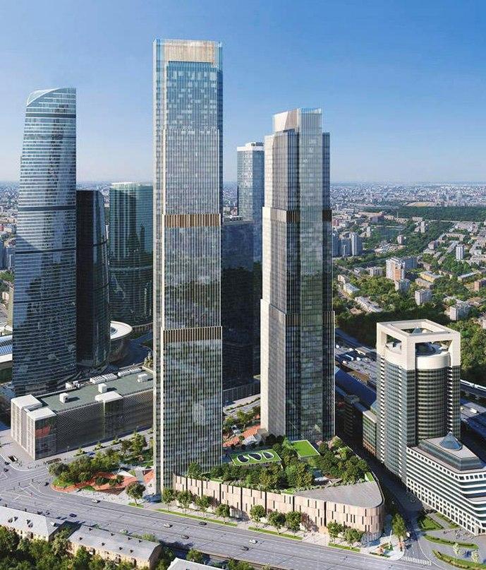Строительство в деловом комплексе Москва-сити на 17