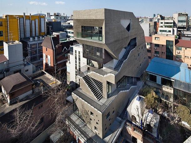 """Проект здания """"Интерробанг"""", разработанный корейским архитектором Сэ"""