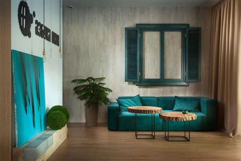 Интерьер салона окон от SVOYA studio  Дизайнеры SVOYA