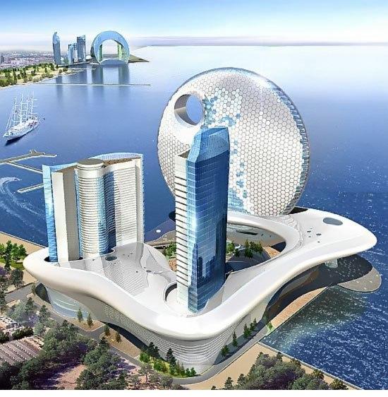«Звездные» гостиницы («Полнолуние» и «Полумесяц») в Баку.  В