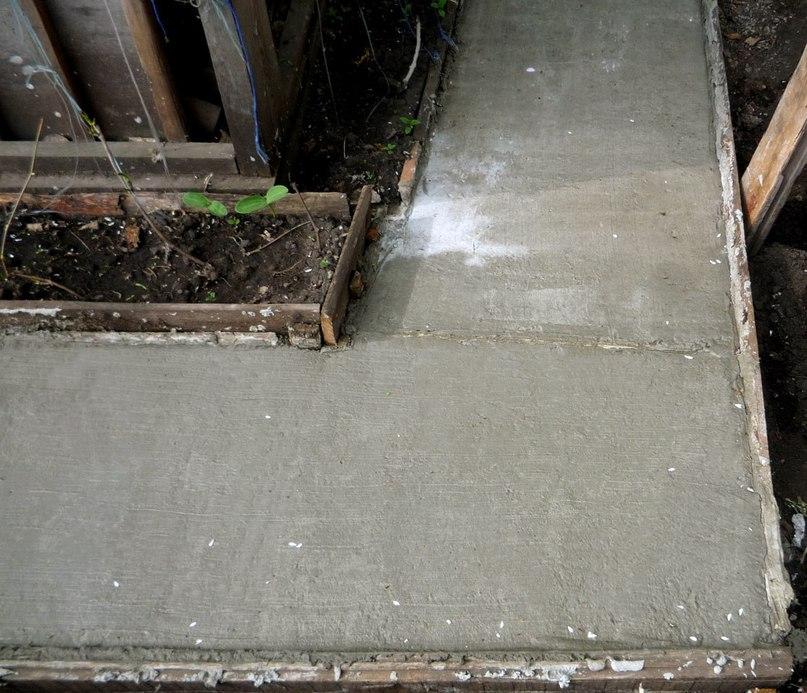 Садовая дорожка из штампованного бетона    Штампованный