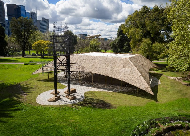 Studio Mumbai presents MPavilion 2016 built using