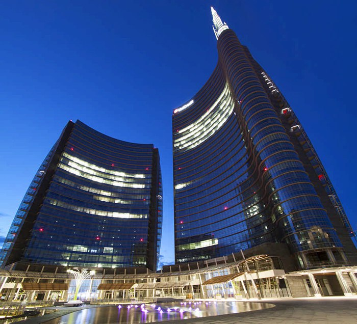 Новая #башня UniCredit, в которой расположена штаб-квартира