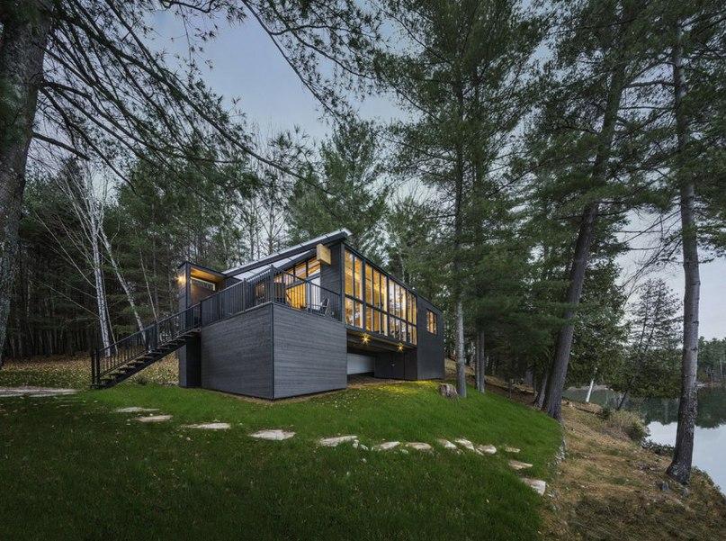 Частный дом в Канаде #дома #архитектура #ландшафт