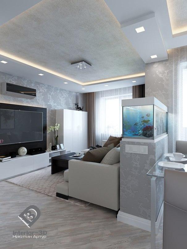 Квартира в серых тонах