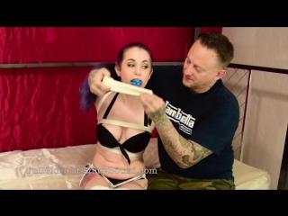 Girl tied up tight in her bikini