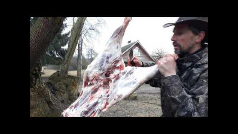 Как правильно разделать тушу барана. Полезное мясо! Мастер-класс от Белорусского Ковбоя.