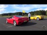 Ferrari 360 Modena VS Lamborghini Gallardo   DRAG RACE + Accelerations