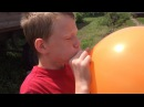 Blowing big balloons but not popping