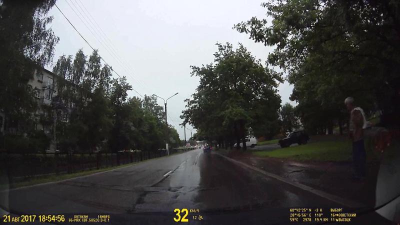 Водители, будьте внимательнее в дождливую погоду!