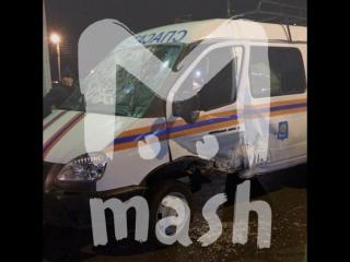 В Астрахани легковушка протаранила «Газель» со спасателями, спешившими на вызов