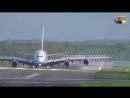 А380 занесло при посадке в Дюссельдорф из-за Ксавье