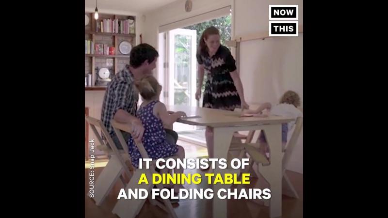 Комплект мебели, маскирующийся под панно.