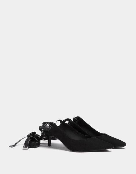 Туфли без задников, на каблуке