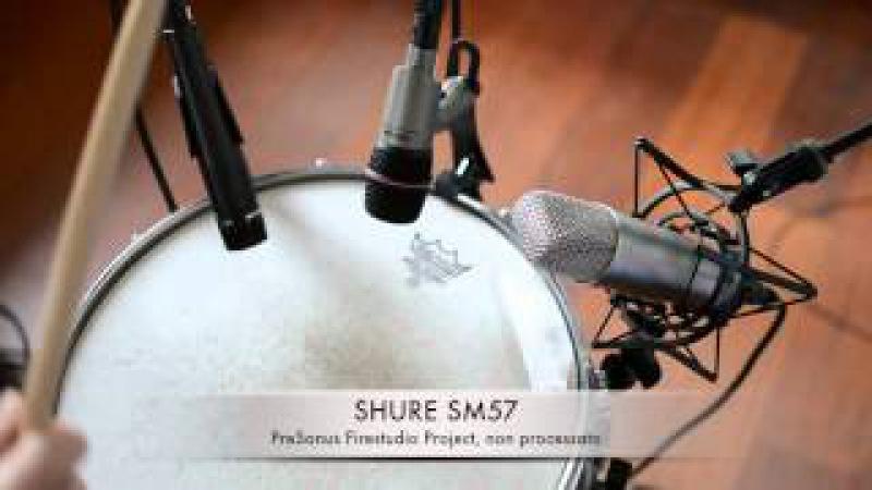 Microfoni per rullante: Shure SM57, Rode NT1-A, Takstar TA-8280; PreSonus Studio Channel
