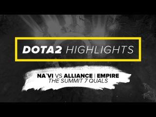 Na`Vi Dota2 Highlights vs Alliance | Empire @ The Summit 7 Quals