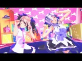 【MMD】ビバハピ Tda式 テト&ハク ( Tda Teto & Haku )