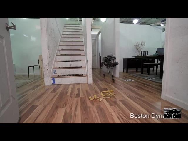 Продолжение истории о тяжелой жизни робота из Boston Dynamics (озвучка, много... · coub, ко...