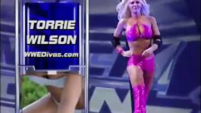 720pHD WWE SmackDown 02 20 03 Torrie Wilson vs Nidia Paddle On A Pole Match