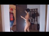Anisyia Livejasmin naked pizza delivery boy surprise hidden camera