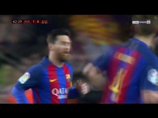 Барселона 1:0 Атлетико. Гол Суареса