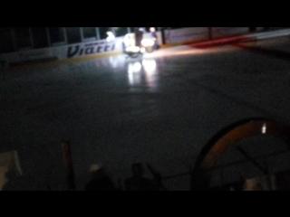 Покатушки на льду члена байк клуба Trespassers MCB на открытии лиги РХЛ. г.Альметьевск.