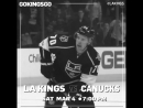 Saturday night with the LAKings vs Canucks