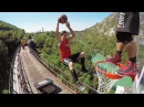 Freestyle Trampoline Slam Dunks on a Train by the Dunking Devils | PEOPLE ARE AWESOME