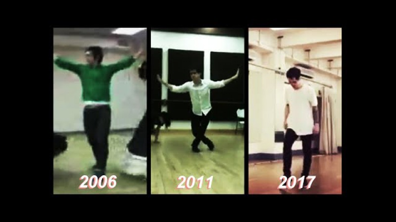 Brendon in dance rehearsal (through the years..)