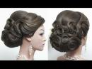 Элегантный низкий пучок ★ Свадебная прическа на длинные волосы