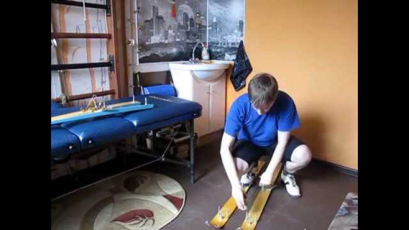 Выработка правильной походки при недостаточной функции мышц голени