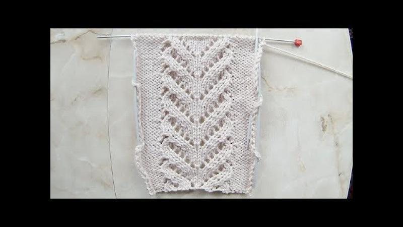 Ажурная Коса- Красавица Вязание спицами Видеоуроки