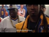 Golden State Warriors (2-0) postgame tunnel walk incl E-40, Klay, Stephen Curry, Durant vs Cavs G2