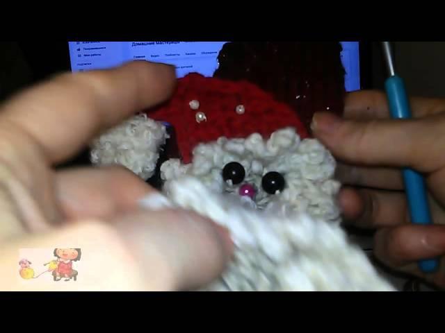 Вязание Вяжем Сами Как связать Деда Мороза Сделать Бубончик для шапочки Деду Морозу
