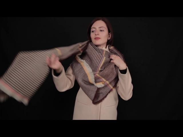 Как завязывать большие платки и палантины. Часть 2