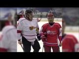 Вячеслав Козлов и Илья Романов специально для хоккейной школы Александра Суглобова