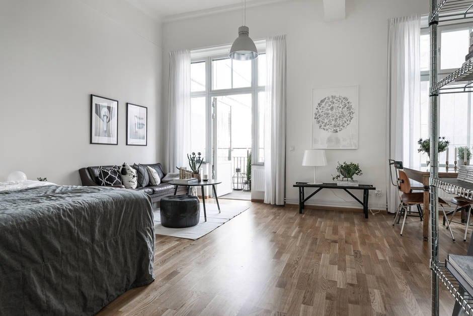 Интерьер квартиры-студии 44 м.