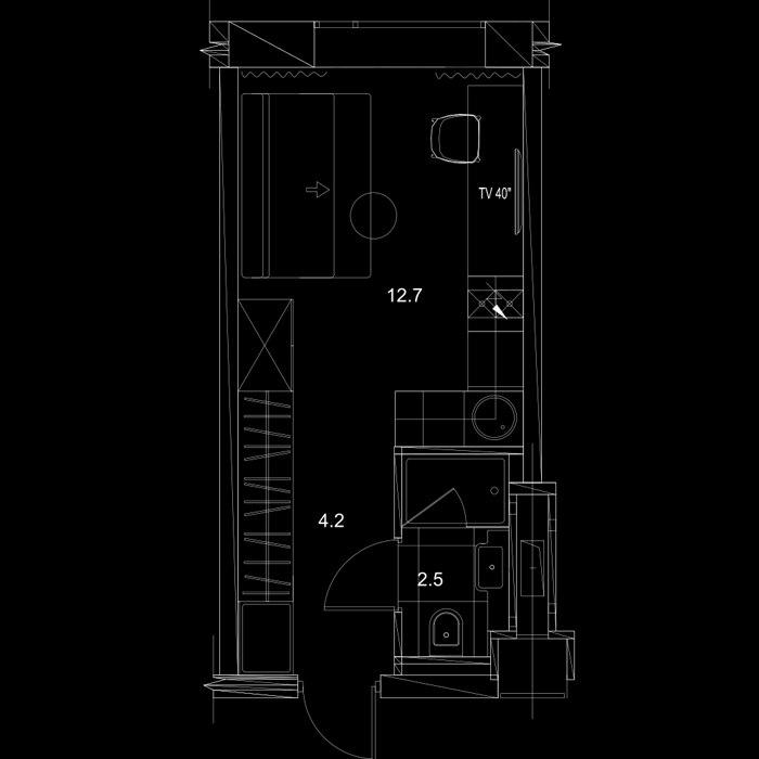 Проект для студий 19-24 м от ГК Пионер - застройщика апарт-комплекса YES, Санкт-Петербург.