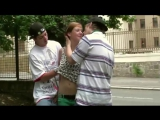 Подростки трахают одноклассницу на улице - Cute teen Alexis Crystal PUBLIC street orgy оргия