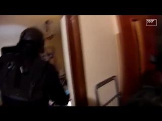 Видео захвата участника налета на инкассаторов