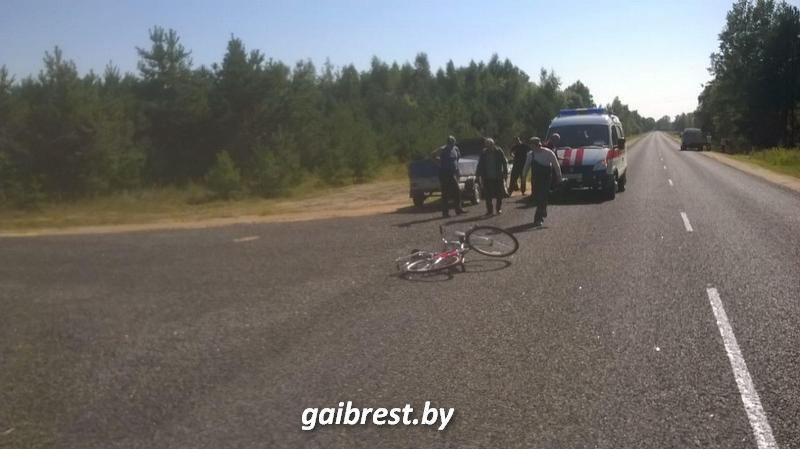 В Пружанском районе в аварии пострадала велосипедист