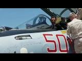 Асад попробовал себя в роли пилота Су-35 на базе Хмеймим